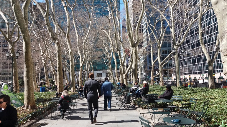 Bryant Park next to library