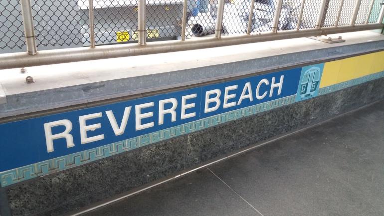 Revere Beach blue line stop