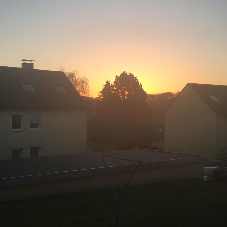 Sunrise at my home